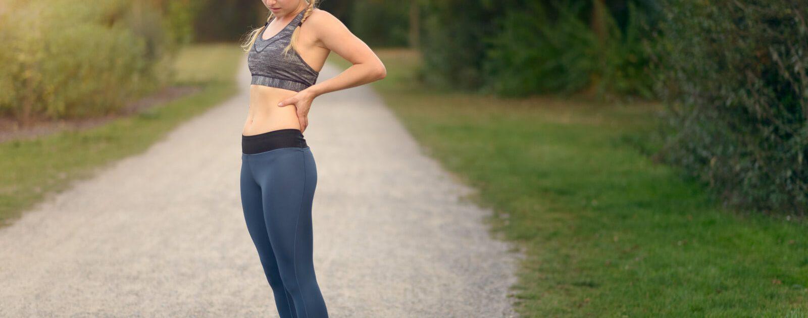LWS-Syndrom quält junge Frau beim Joggen