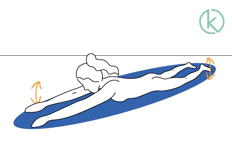 """Lendenwirbelsäule kräftigen mit dem """"Schwimmer""""."""