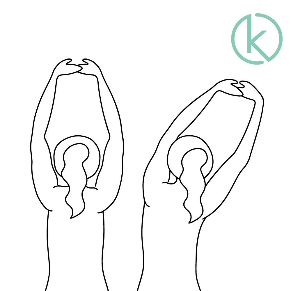 Gegen Nackenverspannungen kann ausgiebiges Strecken helfen.