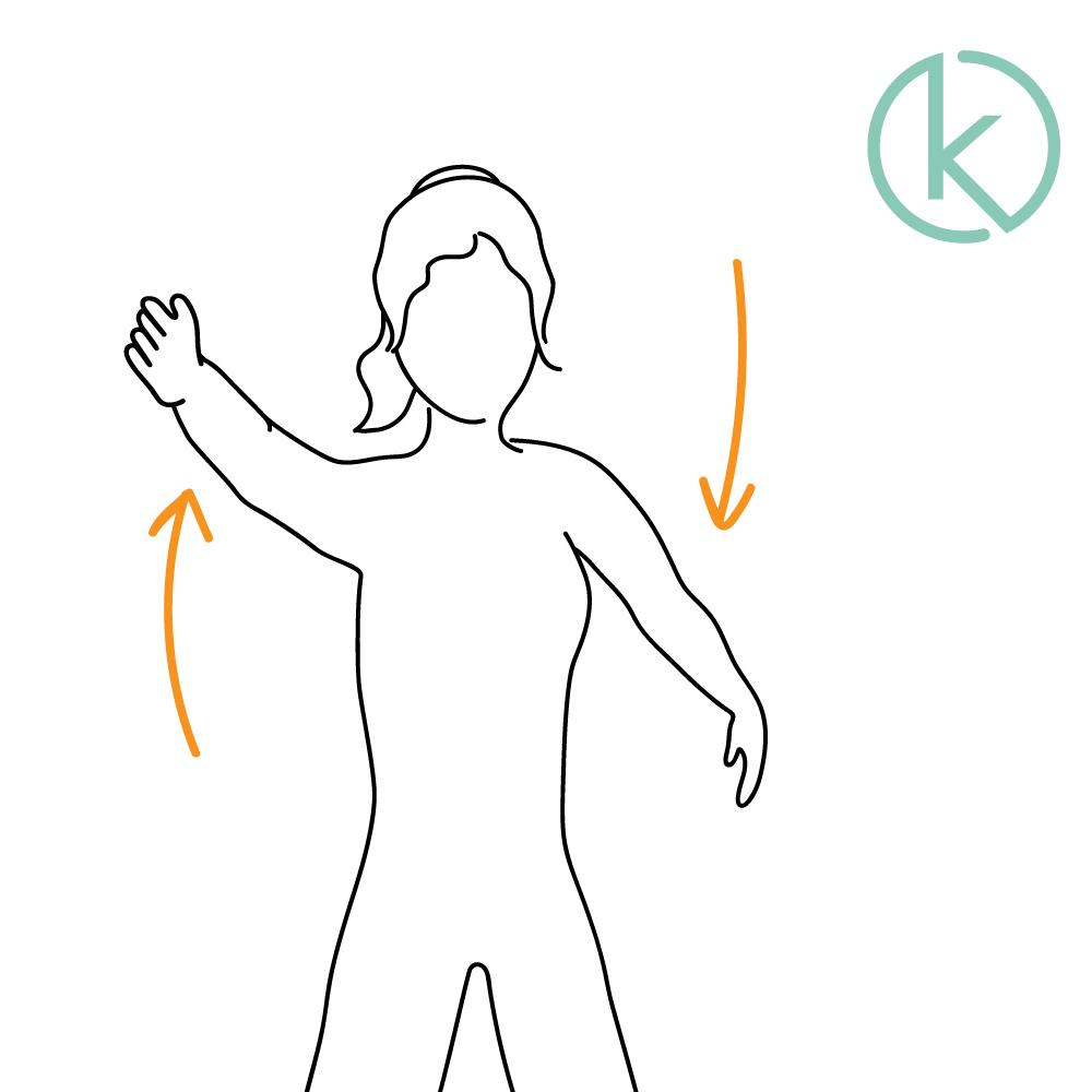 Armkreisen: Mit der Nackenübung können Verspannungen gelöst werden.
