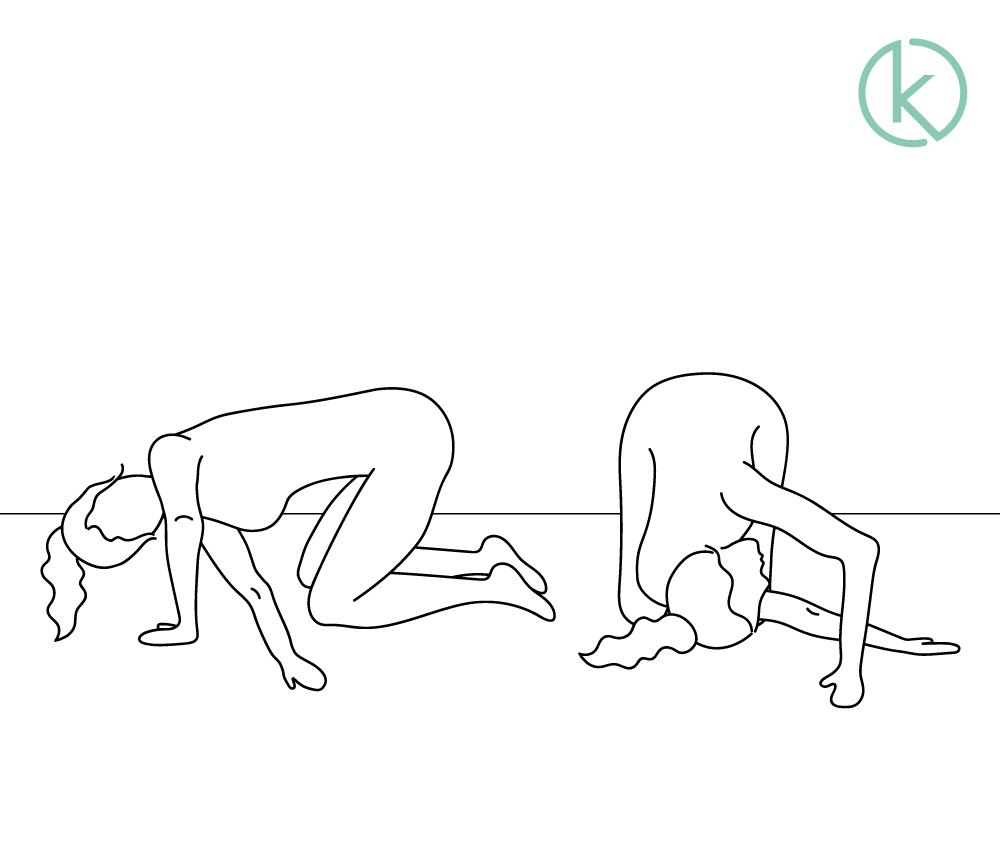 Übung zur Mobilisation der Brustwirbelsäule.